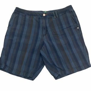 TOMMY BAHAMA Striped Jean Flat Front Shorts